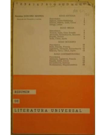 RESUMEN DE LITERATURA UNIVERSAL