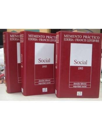 MEMENTO PRÁCTICO: SOCIAL 1992, SOCIAL 1993, SOCIAL 1995. DERECHO...