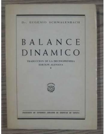 BALANCE DINAMICO. TRADUCCIÓN DE LA DECIMOPRIMERA EDICIÓN ALEMANA
