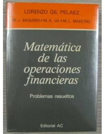 MATEMÁTICA DE LAS OPERACIONES FINANCIERAS. PROBLEMAS RESUELTOS