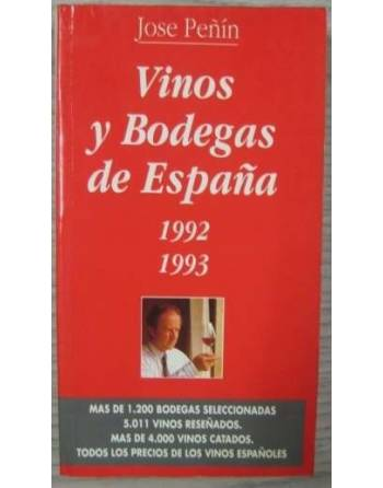 VINOS Y BODEGAS DE ESPAÑA. 1992. 1993