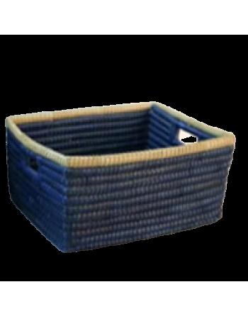 Cesta rectangular azul intenso Corr (BAN)