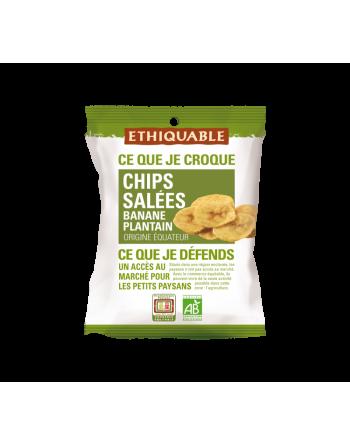 Chips de plátano frito salados Ethiquable