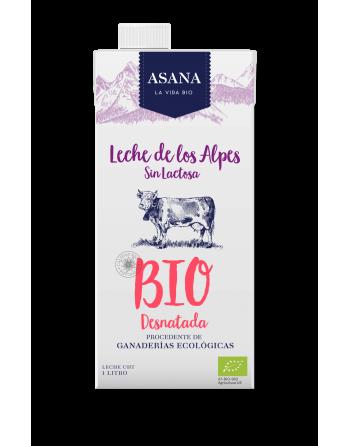 Leche desnatada sin lactosa ASA