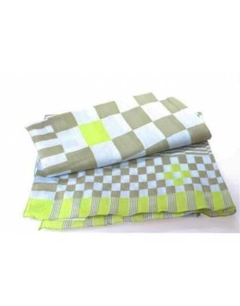 Pañuelo azul/verde algodón 180x50 cm.