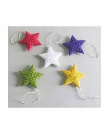 Set 5 estrellas de papel