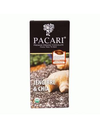 Chocolate Pacari jengibre y chía