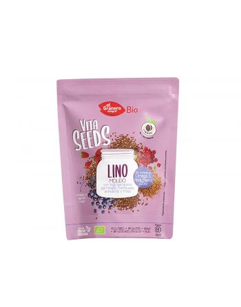 Lino molido trigo sar., frambuesa 200 grs.
