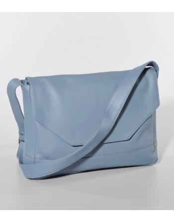 Bolso piel azul 38x9x27 cm. (IN) ID