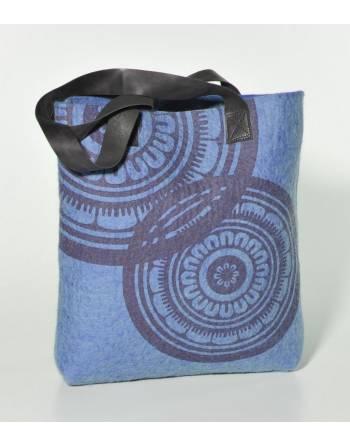 Bolso fieltro estampado azul (NE) ID