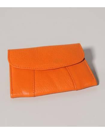 Monedero naranja cuero 11,5x7,5 cm. (IN) ID