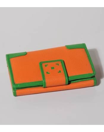 Cartera cuero 14,5x9 cm. naranja (IN) ID