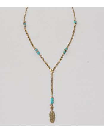 Collar pluma dorada, India
