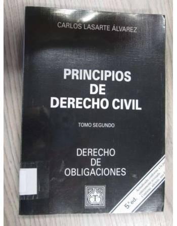 PRINCIPIOS DE DERECHO CIVIL. TOMO SEGUNDO. DERECHO DE OBLIGACIONES