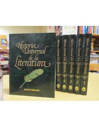 HISTORIA UNIVERSAL DE LA LITERATURA. 6 tomos.