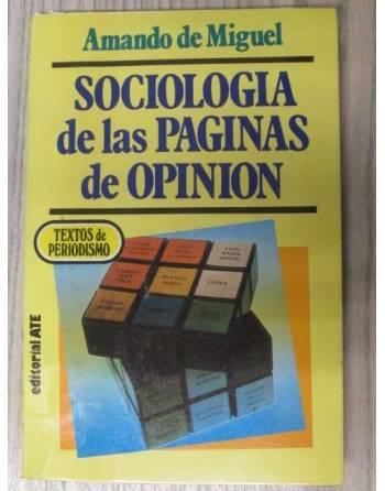 SOCIOLOGIA DE LAS PAGINAS DE OPINIÓN