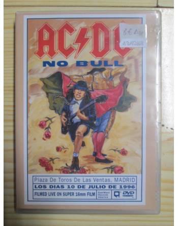 DVD: CONCIERTO EN VIVO DE ACDC, 'NO BULL', LAS VENTAS (MADRID), 1996.