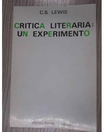 CRITICA LITERARIA UN EXPERIMENTO