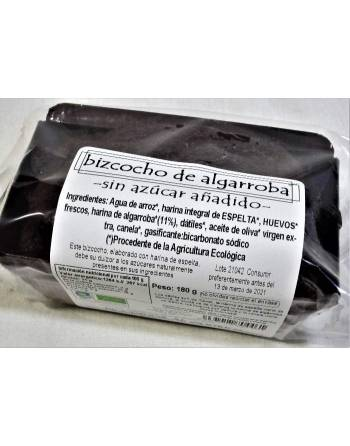 Bizcocho algarroba sin azúcar Biogredos