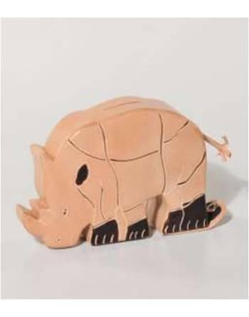 Hucha piel cabra rinoceronte