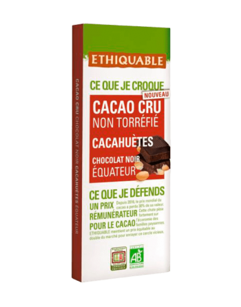 Chocolate Ethiquable raw cacahuetes