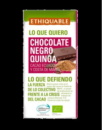 Chocolate Ethiquable negro con quinoa