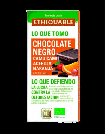 Chocolate Ethiquable camu camu, acerola y naranja