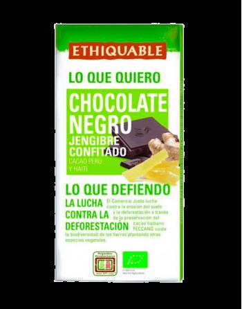 Chocolate Ethiquable jengibre confitado
