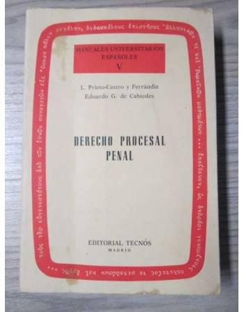 DERECHO PROCESAL PENAL: MANUALES UNIVERSITARIOS ESPAÑOLES V