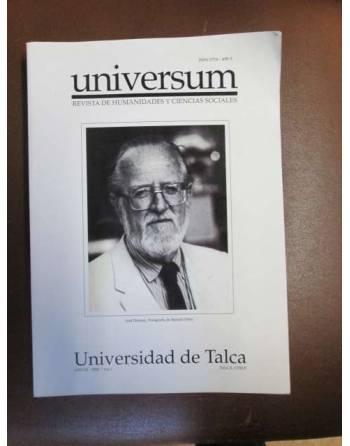 UNIVERSUM. REVISTA DE HUMANIDADES Y CIENCIAS SOCIALES. UNIVERSIDAD...