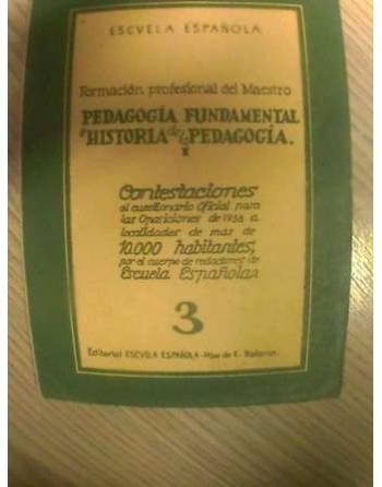 PEDAGOGÍA FUNDAMENTAL E HISTORIA DE LA PEDAGOGÍA