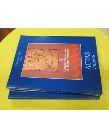 V CONGRESO INTERNACIONAL DE ESTELAS FUNERARIAS. Volúmenes I y II